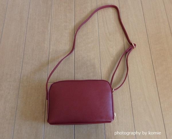 660円赤のミニショルダーバッグ
