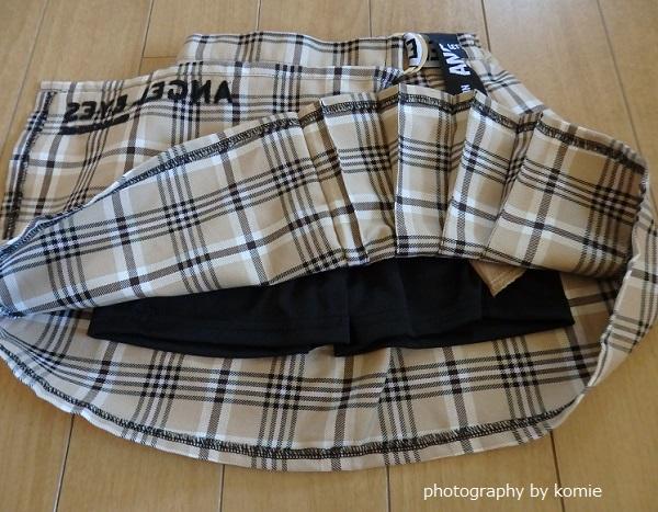 バースデイチェック柄スカート詳細